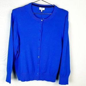 NWT Crown & Ivy Blue Cardigan size XL